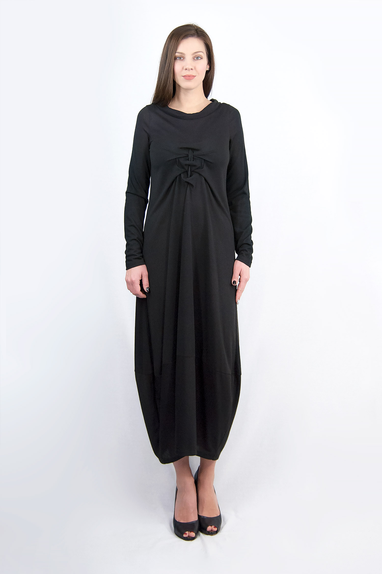 Waffle Dress with Long Sleeves